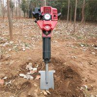 新款链条式挖树机 加工定做便携式汽油挖树机 乐丰牌