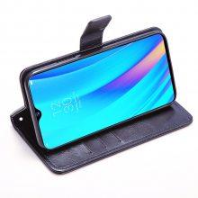 OPPO Realme3Pro手机皮套手机套RMX1851翻盖疯马纹支架防摔手机壳