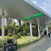 室外雨棚新型建材造型铝天花-雨棚氟碳铝单板