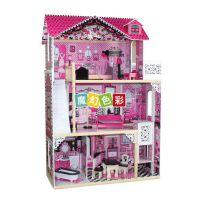 dollhouse儿童娃娃屋 小孩过家家 木制家具 早教玩具迷你玩具屋