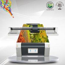 广州番禺瓷砖背景墙UV平板打印机厂家 鎏金玻璃理光UV彩印打印机