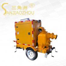 多功能拖车式发电排水泵车/防汛应急移动泵车/三角洲牌移动柴油机水泵
