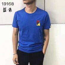 夏季新款品牌时尚先生短袖纯色素版T恤库存尾货批发