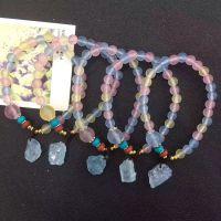 天然海蓝宝 色深体润手链 摩根玛瑙手链 水晶手串饰品批发海蓝宝