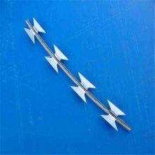 不锈钢刀片刺绳 刮刀型刺丝 监狱防爬网
