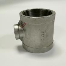 铸件304三通不锈钢 丝扣连接不锈钢 变径三通1.5寸变6分