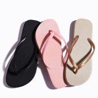新款黑色人字拖女 纯色沙滩鞋防滑人字拖鞋厂家直销批发一件代发
