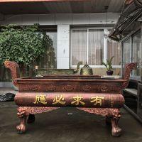 广东汕头购买生铁铸造天地炉 大型寺庙带盖香炉 祠堂铸铁香炉