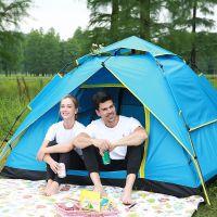 全自动帐篷户外3-4人野营厂家直销 加厚防雨2人防暴雨双人野外露营帐篷定制