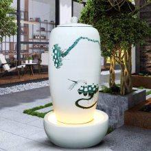 陶瓷流水喷泉定制欧式器皿喷泉雕塑景观园林流水陶瓷摆件