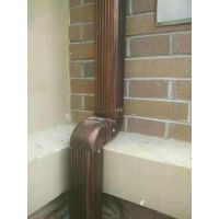 石家庄成品天沟檐槽、铝合金方矩管、彩铝雨水斗K型金属天沟