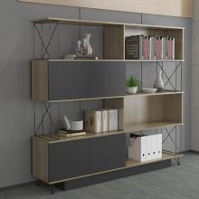 办公室文件柜 简约书柜 档案柜 木质资料柜 老板室背景书柜 组合书柜