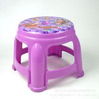 家用塑料圆凳子印花贴花凳儿童凳地摊赶集热卖五元模式配货货源