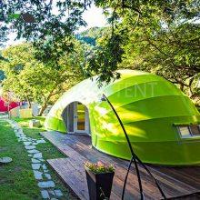 广东星空帐篷厂家供应 特色民宿帐篷酒店 异形创意毛毛虫帐篷房屋