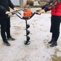 长春硬土汽油大马力刨坑机 春季植树手提挖坑机 普航拖拉机后置挖洞机定做钻头