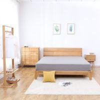 北欧白橡木实木流云床现代简约大气卧室小户型