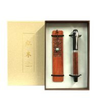 中国风红木书签定制实木质创意笔可爱复古刻字创意礼品特色书签