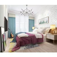 欧雅成品窗帘将墙纸、窗帘、装饰画等软装产品,以空间为中心进行整体搭配设计,打造一体化的整体软装服务