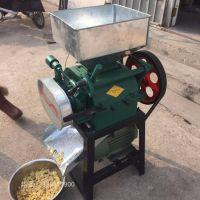 厂家对辊式破碎机酿酒用小型粉碎机高粱花生玉米小麦挤扁破碎机