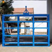 台州塑料模具厂仓库重型模具货架 半开抽屉式模具架带天车 免费安装 宁波甬虔