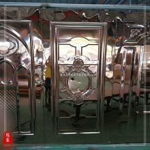 青古铜不锈钢KTV门板 不锈钢青古铜KTV压花门板 哑光做旧加工