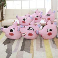 扬州多美惠新年创意搞怪节日生日礼物猪脸表情包抱枕国庆中秋礼品