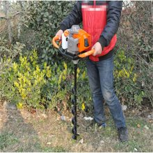 手持式锰钢钻头挖坑机 果树施肥挖坑机