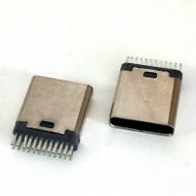 TYPE-C 夹板母座 短体9.0 宽脚大间距 无脚 2