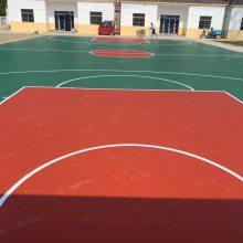 济南硅pu篮球场建设 塑胶篮球场施工 室外塑胶篮球场施工建设