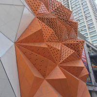 大厦写字楼木纹造型铝单板吊顶-环亚官方下载网站生产厂家