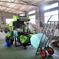 青贮秸秆打捆机 养殖场饲草包膜机 圆形青贮打捆机