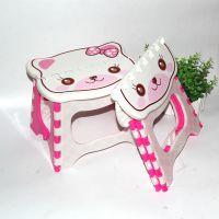 厂家直销 大号便携式塑料折叠凳儿童凳 卡通凳子 户外钓鱼儿童凳