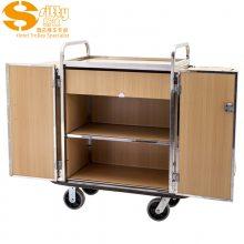 专业生产SITTY斯迪90.9803DGT实木客房房口车/不锈钢服务车