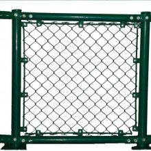专业生产笼式足球场围网规格 压扁铁式球场勾花网 电厂篮球场围网