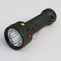 三色信号手电筒 手持充电信号灯 铁路专用红黄绿白调车警示灯