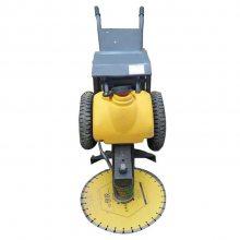 新型路面切桩机 手推式水泥柱切割机 电动混凝土切桩机