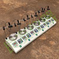 HJ-6AS六联多头恒速磁力搅拌器恒速恒温实验室转速显示厂家直销