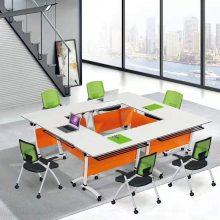BaiWei折叠桌办公桌会议桌-定制多媒体会议室会议桌-翻转式课桌