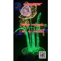 LED荷花挂件灯 春节树上荷花装饰灯 LED发光小荷花灯 树上装饰灯