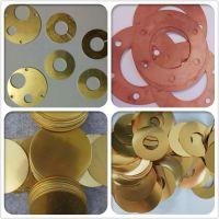 H65黄铜片0.1 0.2 0.3 0.4 0.5mm超薄黄铜垫片 黄铜圈