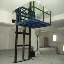 厂家定做厂房升降货梯电动液压升降平台固定导轨式液压升降机货梯