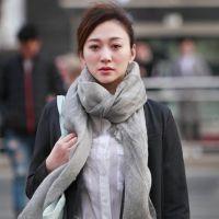 卡卡贝宁国际品牌李小冉同款围巾真丝羊毛丝巾百搭长纱巾防晒披肩