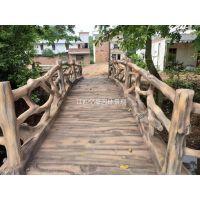 广东河源水泥仿木桥梁批发 梅州河道仿石桥梁定制 惠州小区绿化工程小桥护栏