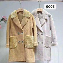 品牌女装颗粒绒大衣价格常熟尾货服装批发市场一手货源