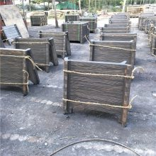 仿木景观花箱 水泥仿木花箱 欢迎订购混凝土仿木花盆