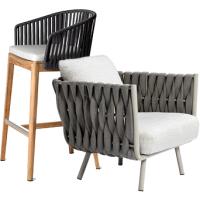 成都户外家具厂家定制户外藤编桌椅绳编休闲椅