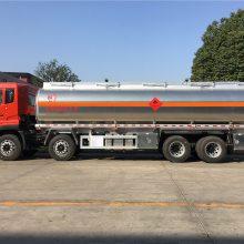 甘肃兰州东风天龙铝合金油罐车,前四后八油罐车湖北楚胜油罐车厂家
