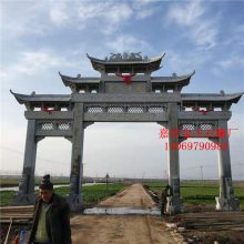 江苏仿古寺庙石雕牌楼大门供应商