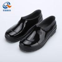 上海双钱牌优质元宝雨鞋防水防滑耐磨厨师鞋男款黑色工地劳保鞋