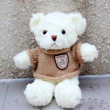 厂家直销  25-30cm站款磨圈毛衣泰迪熊  外贸原单
